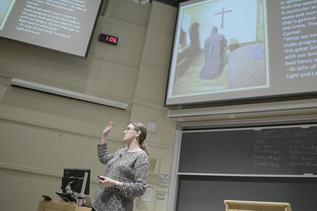 Meghan Sullivan teaching